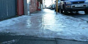 ice-slip and fall